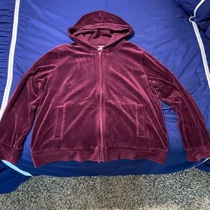Jones New York Sport Dark Maroon Hoodie size 1x